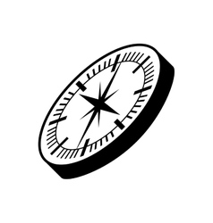 Compass guide device isolated icon vector