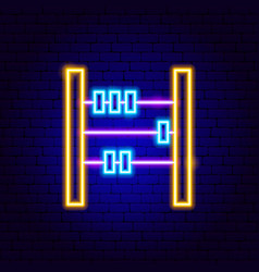 counter neon sign vector image