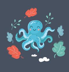 cute cartoon image octopus vector image