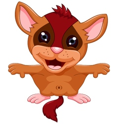 cute Flying squirrel cartoon vector image