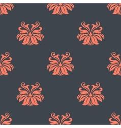Dainty vintage damask style pattern vector image