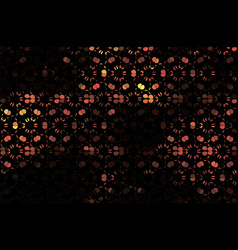 dark abstract background with stylized floral vector image