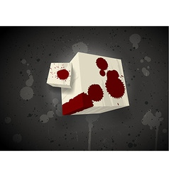 Dark scary cube vector image
