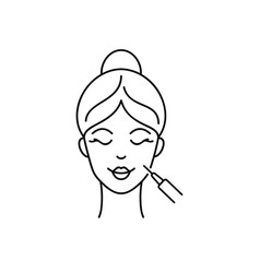 face injection icon vector image