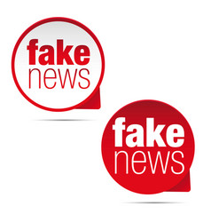 Fake news label sticker set vector