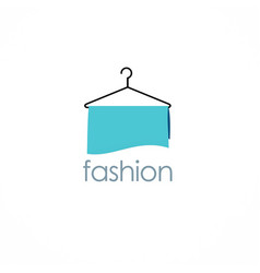 fashion hanger logo vector image