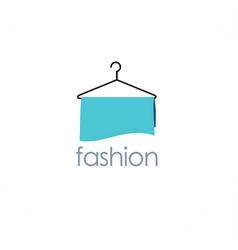 Fashion hanger logo vector
