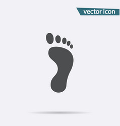 Footprint icon flat footstep symbol isolat vector
