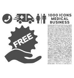 Free Present Icon with 1000 Medical Business vector