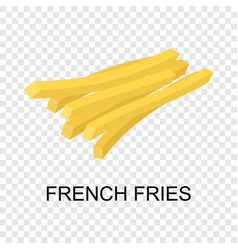 French fries icon isometric style vector