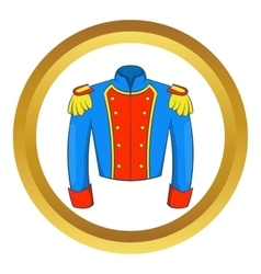 French historical uniform of soldier icon vector image