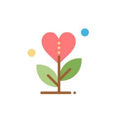 Gratitude grow growth heart love flat color icon vector