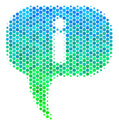 Halftone blue-green about icon vector