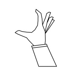 Hand doing grabbing gesture icon image vector