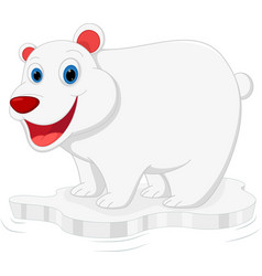 Happy polar bear cartoon vector