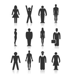 Icon the person vector