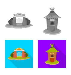 Isolated object nature and fun sign collection vector