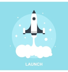 Launch vector image