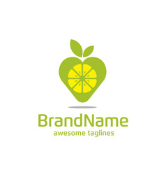 lemon pin logo concept vector image