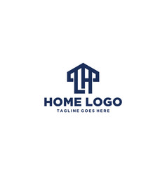 lh home logo design inspiration vector image