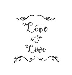 Love love heart arrow grass white background vector