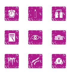 Moisture icons set grunge style vector