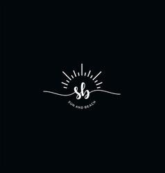 Monogram sb typographic logo vector