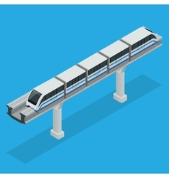 Monorail train Sky Train isometric vector image