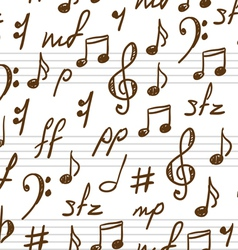 musical patterns vector image