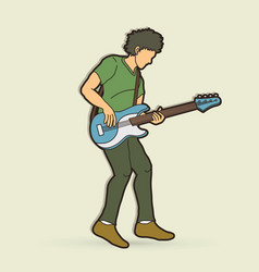 musician playing bass vector image
