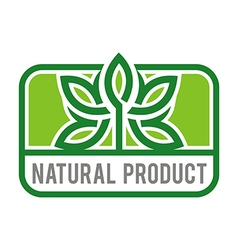 Natural product organic healthy garden design vector