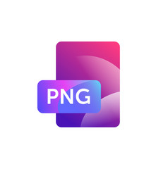 png format icon gradient flat style bright vector image