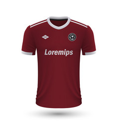 Realistic soccer shirt sparta prague 2022 jersey vector
