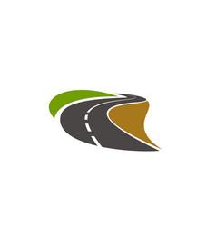 Road pathway highway icon curve driveway vector