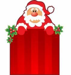 Santa and Christmas box vector