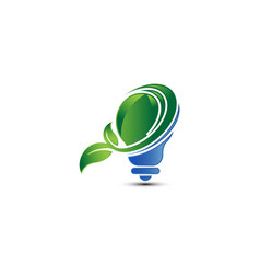 save energy eco concept icon for green vector image