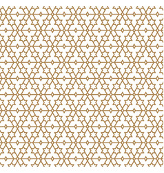 Seamless geometric pattern in golden geometric vector