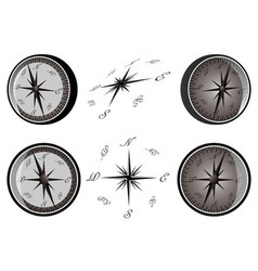 Set of compass vector image vector image