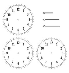 set of round clock faces design for men blank vector image