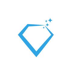 Sparkling diamond graphic design template vector
