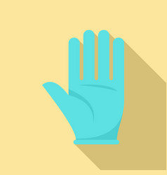 Survival glove icon flat style vector