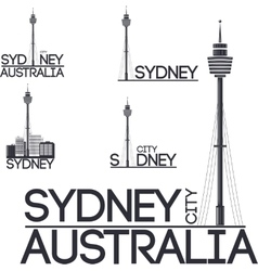 Sydney city set vector
