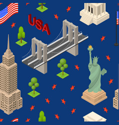 symbol of usa seamless pattern background travel vector image