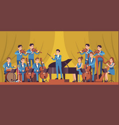 Symphony orchestra classical music concert vector