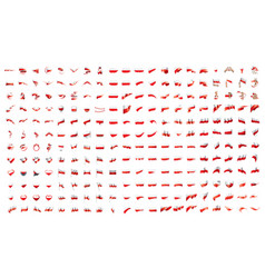 very big collection of flags of the poland vector image