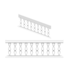 White marble balustrade for balcony and stairs vector