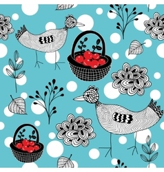 Cold winter seamless pattern with white snowballs vector image vector image