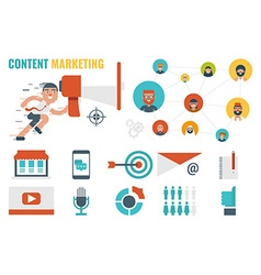 Content Marketing Concept vector image vector image