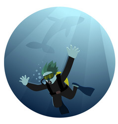 diving into abyss vector image vector image