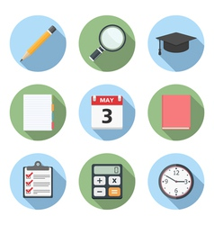 Flat Education Icons vector image